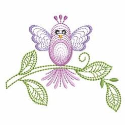 Bird On Branch embroidery design