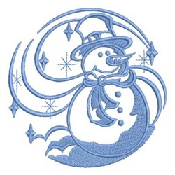 Swirl Snowman embroidery design