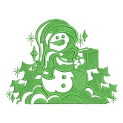 Gift Snowman embroidery design