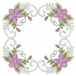 Violet Quilt Block embroidery design
