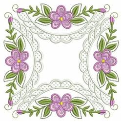 Violet Quilt Square embroidery design