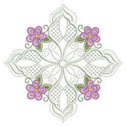 Violet Quilt Diamond embroidery design