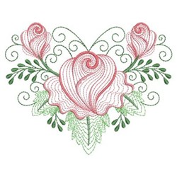Rippled Buds embroidery design