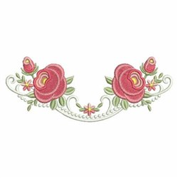 Red Rose Border embroidery design