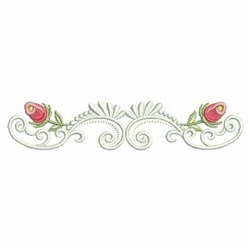 Rose Bud Border embroidery design