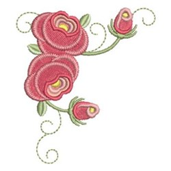 Corner Roses embroidery design