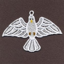 FSL Dove Ornament embroidery design