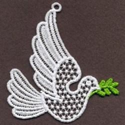 FSL Ornament Dove embroidery design