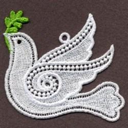 Peace Dove FSL embroidery design