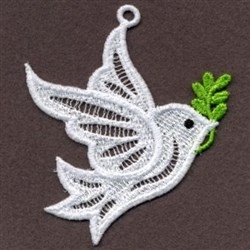 Ornaament FSL Dove embroidery design