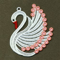 FSL Swan embroidery design