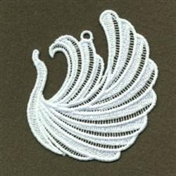 FSL Swan Ornament embroidery design