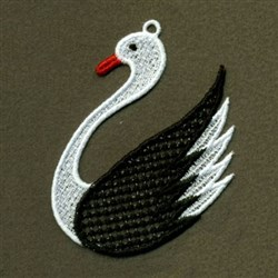 Swan FSL embroidery design