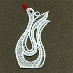 FSL White Swan embroidery design