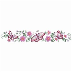 Butterfly Pillowcase Borders embroidery design