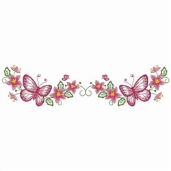 Butterfly Borders embroidery design