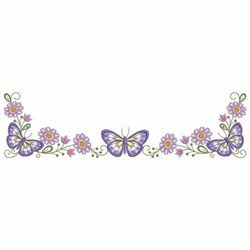 Butterfly Pillowcase Border embroidery design