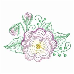 Ripple Pansy embroidery design