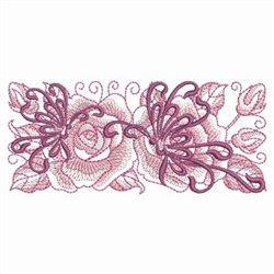 Roses & Butterflies embroidery design