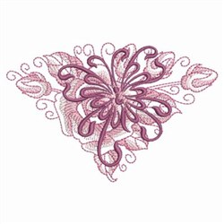 Butterfly Rose embroidery design