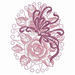 Oval Roses embroidery design