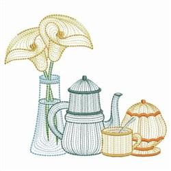 Rippled Coffee Time embroidery design