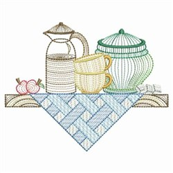 Rippled Kitchen Shelf embroidery design