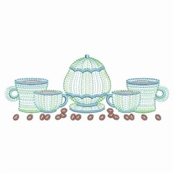 Rippled Coffee embroidery design