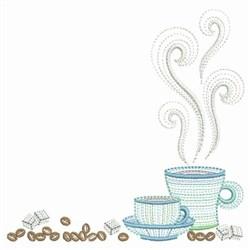 Rippled Coffee Corner embroidery design