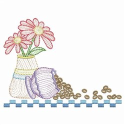 Rippled Coffee Beans embroidery design