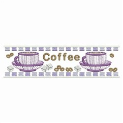 Rippled Coffee Border embroidery design