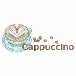 Rippled Cappuccino embroidery design
