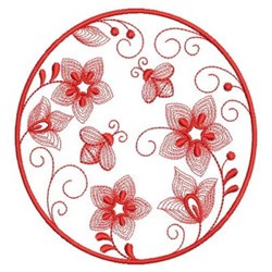 Redwork Garden embroidery design