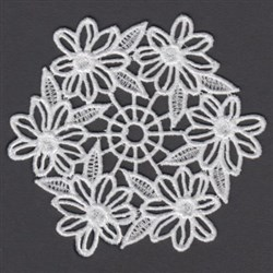 FSL Floral Doily embroidery design