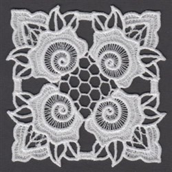 FSL Flower Block embroidery design