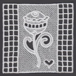 FSL Floral Block embroidery design