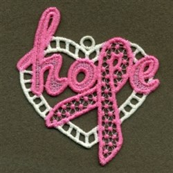 FSL Hope Ribbon embroidery design