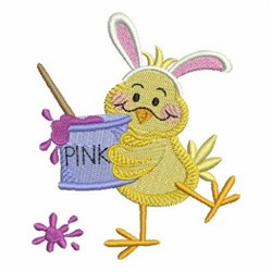 Easter Chick & Paint embroidery design