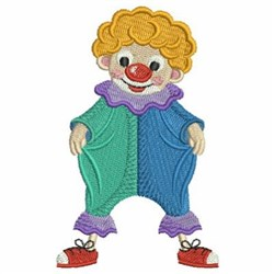Circus Clown In Funny Pants embroidery design