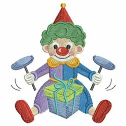 Performing Circus Clown embroidery design
