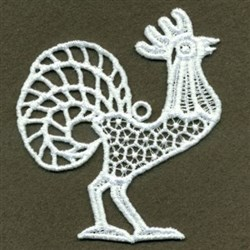 FSL Standing Rooster embroidery design