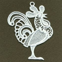 FSL Swirly Rooster embroidery design