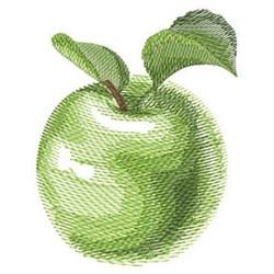 Watercolor Apple embroidery design