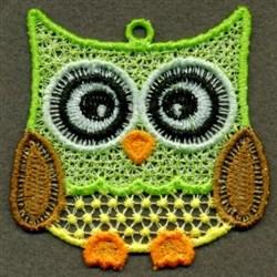 FSL Green Owl embroidery design