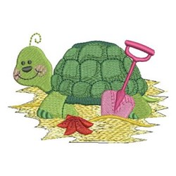 Beachy Turtle embroidery design