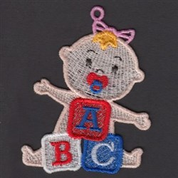 FSL Baby & Blocks embroidery design