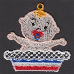 FSL Patriotic Baby & Pie embroidery design