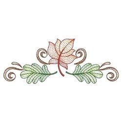 Rippled Fall Leaves embroidery design