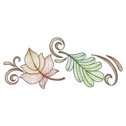Decorative Rippled Leaves embroidery design