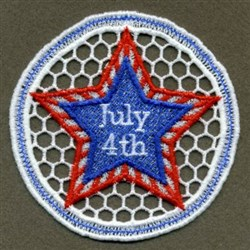 FSL July 4th Star Doily embroidery design